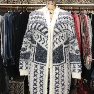 ECOTE Long Fuzzy Sweater